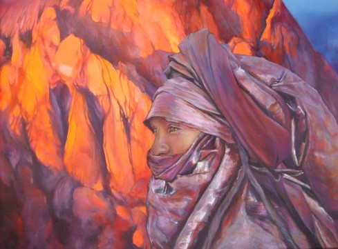 """""""Tu contiens dans ton œil le couchant et l'aurore """" Acrylique sur toile. Format : 65x50. 2006"""