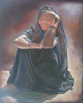 """"""" La femme se donne,elle charme,elle nous éveille"""" Acrylique sur bois. Format : 81X60 . 2006"""