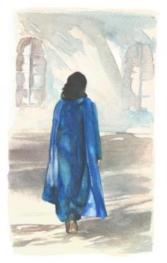 """""""La passante"""" Aquarelle sur papier Arches. Format : 11x18. 2002"""
