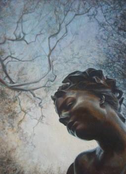 """"""" Loin des démons et des esprits malfaisants"""" Acrylique sur toile. Format : 50x70. 2006"""