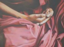 """""""Les pans de sa robe sont remplis de joyaux et de pépites d'or"""" Détail."""