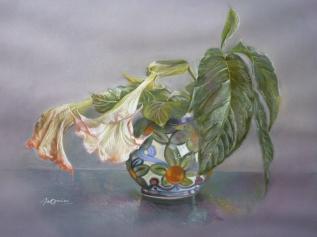 """"""" Les trompettes des anges"""" Pastels secs. Format : 62x48. 2001"""