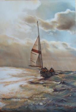 """""""Comme un cheval souple et docile"""" Huile sur toile. Format : 46x38. 2001"""