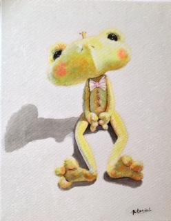 """""""Frog"""" Acrylique sur toile. Format : 34x27. 2014"""