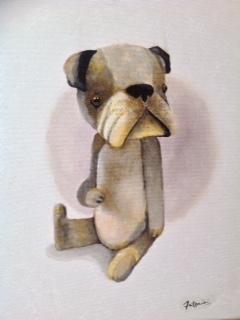 """""""Dog"""" Acrylique sur toile. Format : 34x27. 2014"""