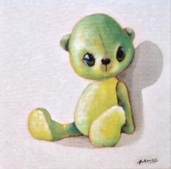 """""""Teddy"""" Acrylique sur toile. Format : 30x30. 2014"""
