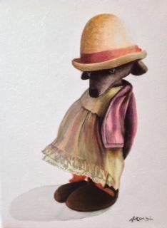"""""""Mouse"""" Acrylique sur toile. Format : 34x27. 2014"""