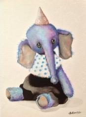 """""""Elephant"""" Acrylique sur toile. Format :34x27. 2014"""
