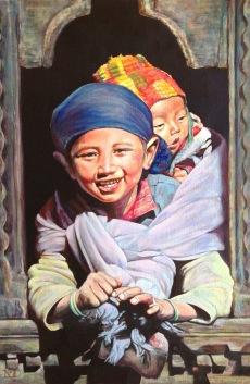 """""""L'espérance intacte"""" Acrylique sur toile. Format : 46x38. 2006"""