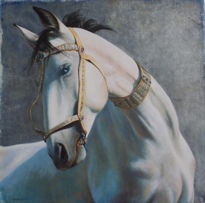 """""""Joue avec la liberté"""" Acrylique sur toile. 50x50. 2008"""