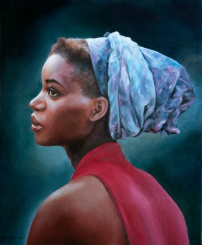 """""""La femme au turban"""" Huile sur toile. Format : 46x38. 2001"""