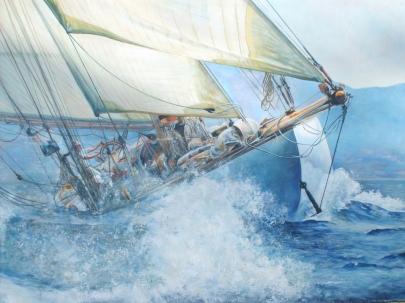 La traversée de l'océan de l'existence. Huile sur toile. Format : 92x73. 2009