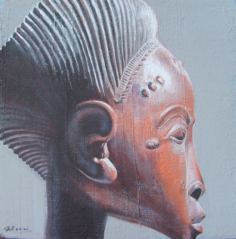"""""""Les 4 nobles vérités"""" Acrylique sur toile. Format : 40x40. 2006"""