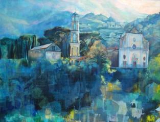 """""""Le bleu en majesté"""" Acrylique sur toile. Format : 100x81. 2004"""