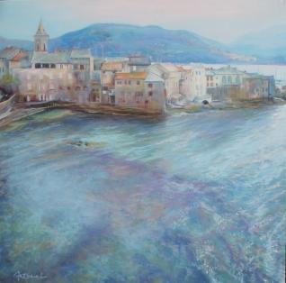 """""""San Fiurenzu"""" Huile sur toile. Format 40x40. 2004"""